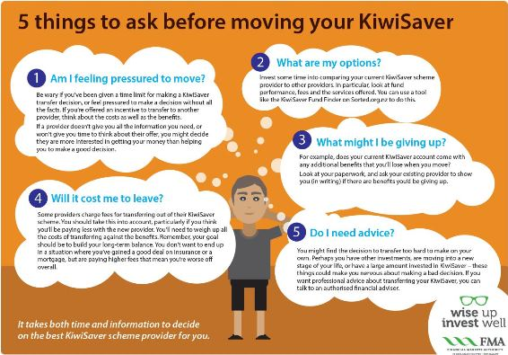 5 things to ask before moving your KiwiSaver