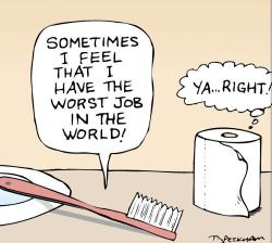 Toothbrush and Toilet Paper Cartoon